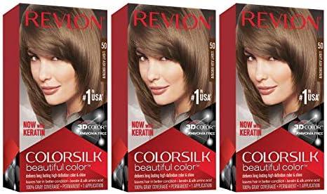 Revlon Colorsilk Beautiful Color Permanent Hair Color with 3D Gel Technology Keratin 100 Gray product image