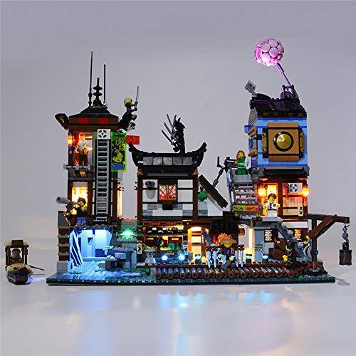 TZH Modelo Kit De Iluminación LED para Lego, Juego De Luces Alimentado por USB Compatible con 70657 Mirage Ninja City Pier - No Incluye Modelo