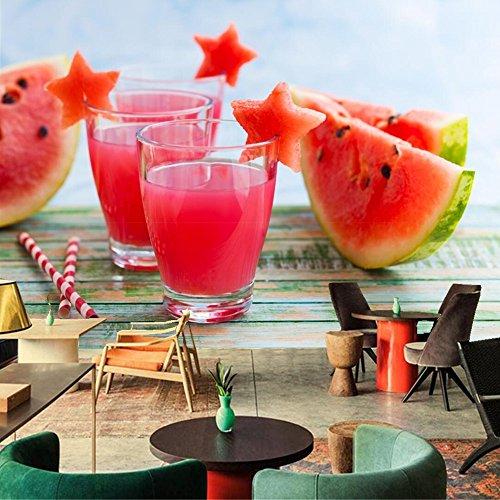 Yosot Benutzerdefinierte Moderne 3D Wandmalereien Wassermelonen Saft Food Tapete, Wohnzimmer Tv Wand Küche Ktv Bar Wand 3D Tapete-250cmx175cm