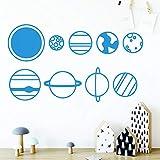 ChenXU - Vinilo decorativo para pared, diseño de planeta y...