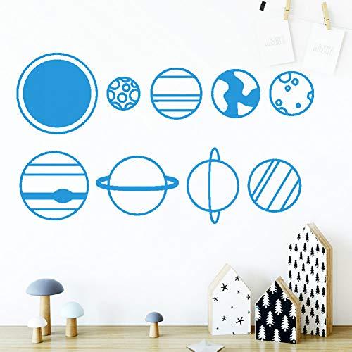 ChenXU - Vinilo decorativo para pared, diseño de planeta y estrella, decoración de casa, para niños, salones, decoración de pared, decoración de la casa