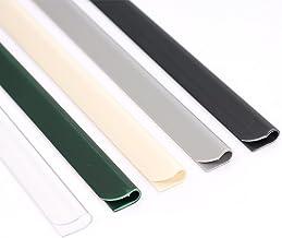 Panorama24 Bevestigingsclips voor PVC zichtwerende strips, antraciet RAL7016, 25 stuks, klemrails omheining inkijkwerende ...