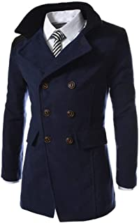 BOLAWOO Giacca da Uomo Trench Outwear Cappotto Giacca da Warm Giacca Uomo Coat Cappotto Mode di Marca Elegante Trench Lung...