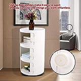 Gototop Cassettiera componibile a 3 livelli, rotonda, in plastica, con rotelle, ideale per il bagno e la camera da letto