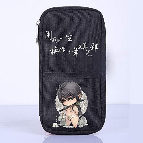 Pencil Case Grave notes Large Capacity Pencil Cases/Pen Case/Pencil Bag Pouch Compartments for Boys Girls Middle High School Students Adults and Office Supplies