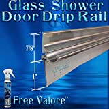36' Chrome Framed Glass Shower Door Drip Rail Kit- Comes Pre-taped and with the seal already installed. Metal replacement piece on the bottom of a framed shower door. FREE 4oz Valore!!!
