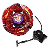 Battling Toys - Ultimate Meteo L-Drago Rush Red Metal Fusion Fight Starter Pack Set with Launcher & Ripcord