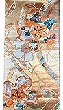 'Obi' Cinturón de kimono japonés para decoración de interiores:'Sho Chiku Bai' (pino, bambú, ume(flor de ciruela))