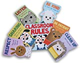 Teaching Tree Classroom Educational Resource Decor - Classroom Rules with Animal Theme - 7 Ct
