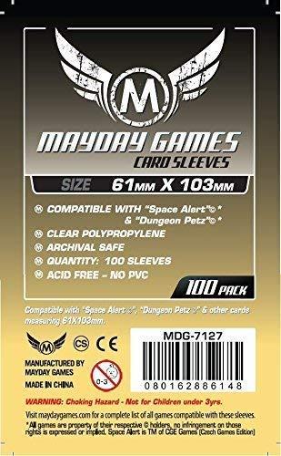Unbekannt Space Alert & Dungeon Petz Card Sleeves (61x103mm) - 100 Pack, Standard Thickness