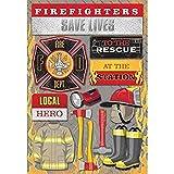 KAREN FOSTER 11585 Design Acid and Lignin Free Scrapbooking Sticker Sheet, Firefighter