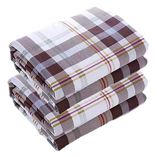 Almohadillas para incontinencia de 2 Piezas, Impermeables, Reutilizables, Lavables, Ideales para Adultos, niños y Mascotas. (Color : E, Size : 120 * 150cm)