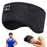 WU-MINGLU Bandeau Bluetooth pour dormir, musique sans fil, casque de sport pour homme, femme avec tissu fin et cool et écouteurs...