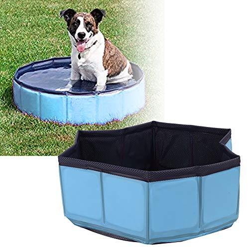 Felenny Baño para Mascotas Piscina Plegable Perro Remando Natación Bañera sin Inflación PVC Bañera a Prueba de Fugas Suministro para Mascotas Interior Al Aire Libre para Mascota Gato