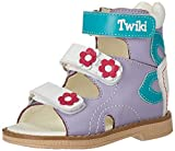 Orthopedic Kids Shoes for Boys and Girls TW-170 - Genuine Leather High Back Sandals with Arch Support, Non-Slip Amortizing Sole and Thomas Heel (8, Purple/Turquoise)