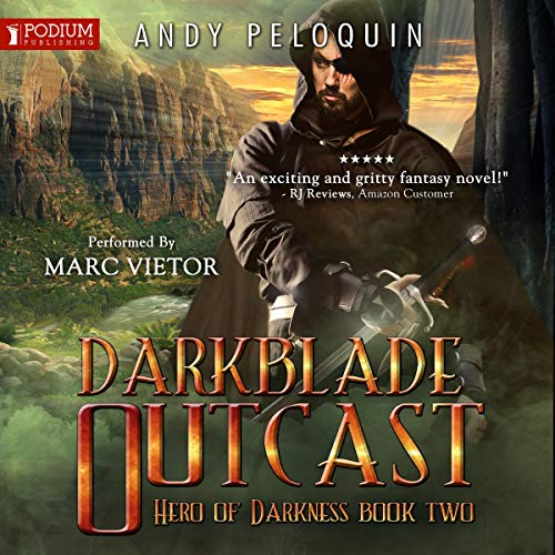 Darkblade Outcast audiobook cover art