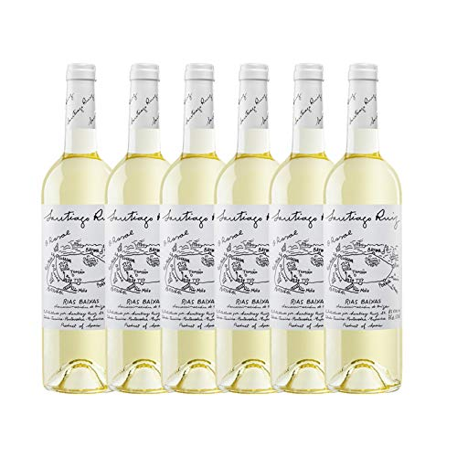 Vino Blanco Santiago Ruíz Albariño de O Rosal - D.O. Rías Baixas - 6 Botellas x 75cl