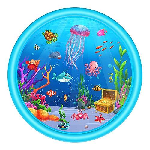 chlius Splash Pad, rociador de 170 cm para niños, tapete de juego inflable al aire libre, juguete de juego acuático, juguete de verano para jardín trasero, juguete de piscina para más de 12 meses