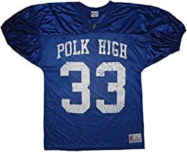 Married with Children Al Bundy Polk High 33 Distressed Blue Football Jersey Costume