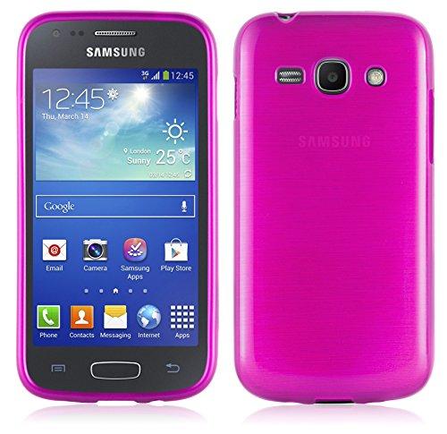 Cadorabo Funda para Samsung Galaxy Ace 3 en Fucsia - Cubierta Proteccíon de Silicona TPU Delgada e Flexible con Antichoque - Gel Case Cover Carcasa Ligera