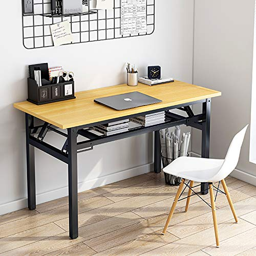 Insputer Folding Desk Home Office Furniture Study Desk 80 X 40 X 75cm No Assembly Computer Desk Folding Table with Adjustable Legs Office Desks for Home and School