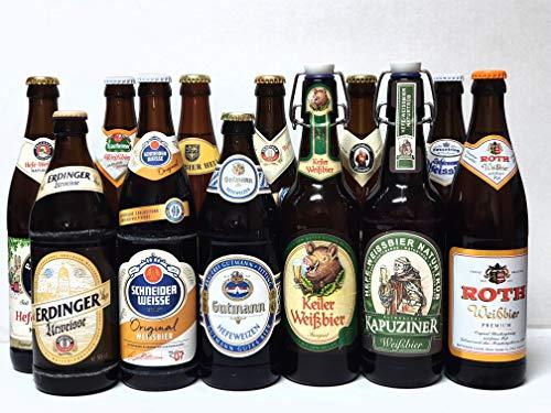 Bier Box Weißbiere aus Bayern I 12 verschiedene Hefe Weißbiere hell I Weizen I 12 Flaschen I Weissbier I Bier Geschenk I Weißbier Probe I Geschenk Idee I Männer Geschenk