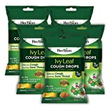 Herbion Naturals Ivy Leaf Cough Drop with Thyme and Licorice Extract 125 Counts Natural Cough Remedy | Cough Suppressant | Soar Throat Relief | Pack of 5
