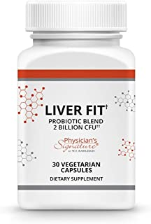 Probiotics Supplement – Healthy Liver Support - Liver Fit - 30 Vegetarian Capsules – Physicians Signature by WT Rawleigh