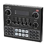 MILISTEN Tarjeta de Sonido en Vivo V9 Tarjeta Mezcladora de Sonido USB Portátil Máquina Mezcladora de Audio DJ Externa para Transmisión en Directo Canciones K Grabación Chat de Voz