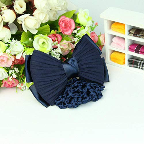 JXD Hair Clip Barrette Bow Bowknot Snood Hair-Net Women Accessories 1pc Hairnet,Blue Bowknot Hairpin