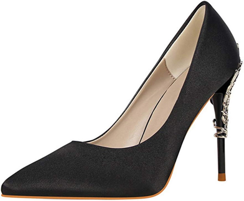 Drew Toby Womens Pumps Metal Carved Pointed Toe Wedding High Heels 10cm