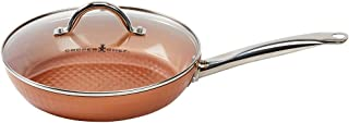 Copper Chef 10 Inch Diamond Fry Pan | Round Frying Pan With Lid | Skillet with Ceramic Non Stick | Perfect Cookware For Sauté And Grill