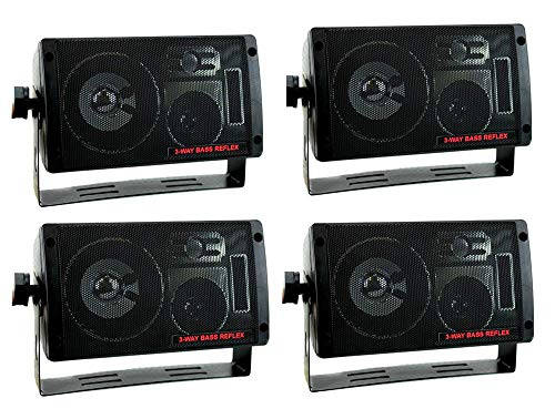 PYRAMID 2060 600W 3-Way Car Audio Mini Box Speakers Stereo Indoor System
