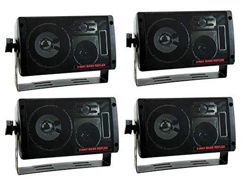 PYRAMID 2060 600W 3-Way Car Audio Mini Box Speakers Stereo Indoor System