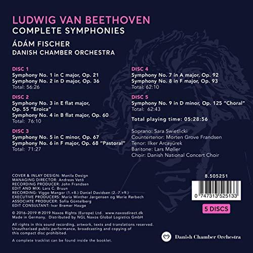 Beethoven: Symphonies [Danish Chamber Orchestra; Ádam Fischer; Ádam Fischer] [Naxos: 8505251]
