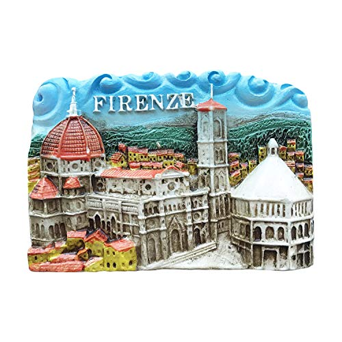 Firenze Firenze Italia Magnete da frigorifero 3D Adesivo da viaggio Souvenir Home and Kitchen Decoration Italy Frigo Magnet Collection