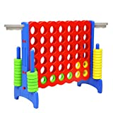 Giant 4-in-a-Row 33inch Small Adults Yard Connect Game Basketball Activity Outdoor Floor Game for Kids Teenages Indoor Family Fun Board Games,Blue/Red -SSZQ04BR