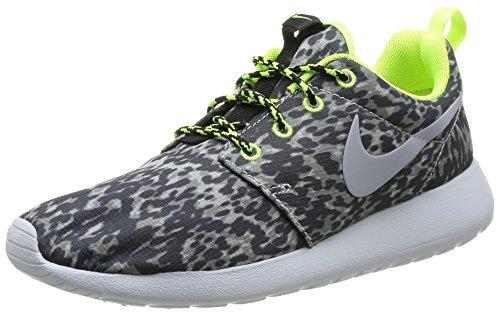Nike Roshe Run Print, Damen Laufschuhe, Grau (Cool Grau/Wolf Grau-Volt-Schwarz 070), 41 EU (7 UK)