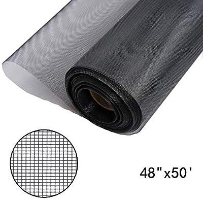 Shatex fiberglass window screen insect barrier black