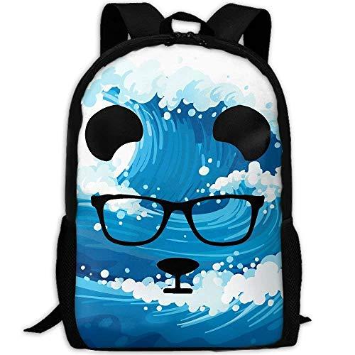 Morral Cotidiano,Daypacks,Casual Mochila,Bandolera,Messenger Bag,Gafas De Dibujos Animados Panda Face Women & Men...