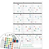 Lushleaf Designs - Large Dry Erase Wall Calendar - 24x39 Inches - Blank