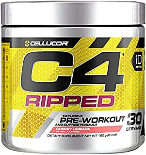 Cellucor C4 Ripped Pre Workout Powder Cherry Limeade | Creatine Free + Sugar Free..