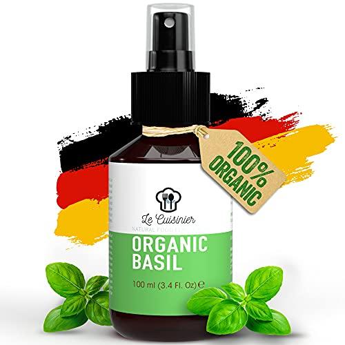 LE CUISINIER 100{a2dbb9b4731ac9985898d10ac6c6e86fa68006d4c2a84003db5710fd845384bf} Reines Basilikum Extrakt als Sprüh Alternative zu Basilikumöl oder Hair Growth Serum - für dünne Haare und bei Haarausfall kann es das Haarwachstum beschleunigen, Haarserum - 100ml