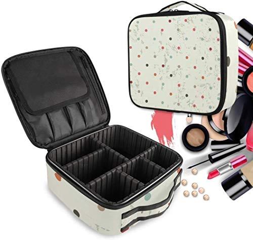 Cosmétique HZYDD Vintage Dot Spot Make Up Bag Trousse de Toilette Zipper Sacs de Maquillage Organisateur Poche for Compartiment Femmes Filles Gratuit