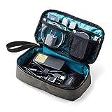 サンワダイレクト トラベルポーチ ガジェットポーチ 旅行 出張 便利グッズ マウス ケーブル モバイルバッテリー 収納ポーチ グレー 200-BAGIN006GY