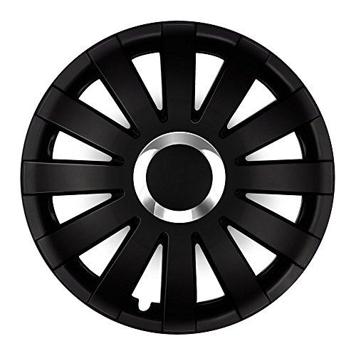 Autoteppich Stylers 15 Zoll Radkappen Onyx Schwarz (Farbe und Größe wählbar!)