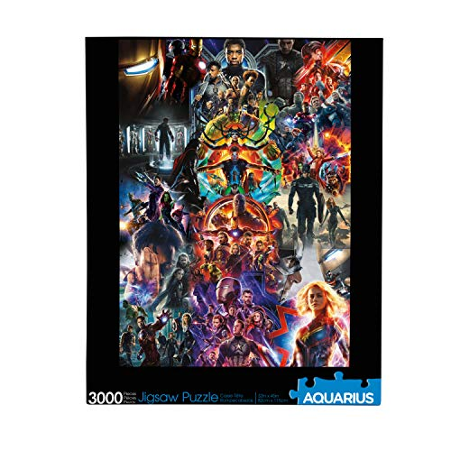 AQUARIUS Marvel Avengers Collage (3000 Piece Jigsaw Puzzle) - Glare Free - Precision Fit - Virtually No Puzzle Dust - Officially Licensed Marvel Merchandise & Collectibles - 32 x 45 Inches (68517)