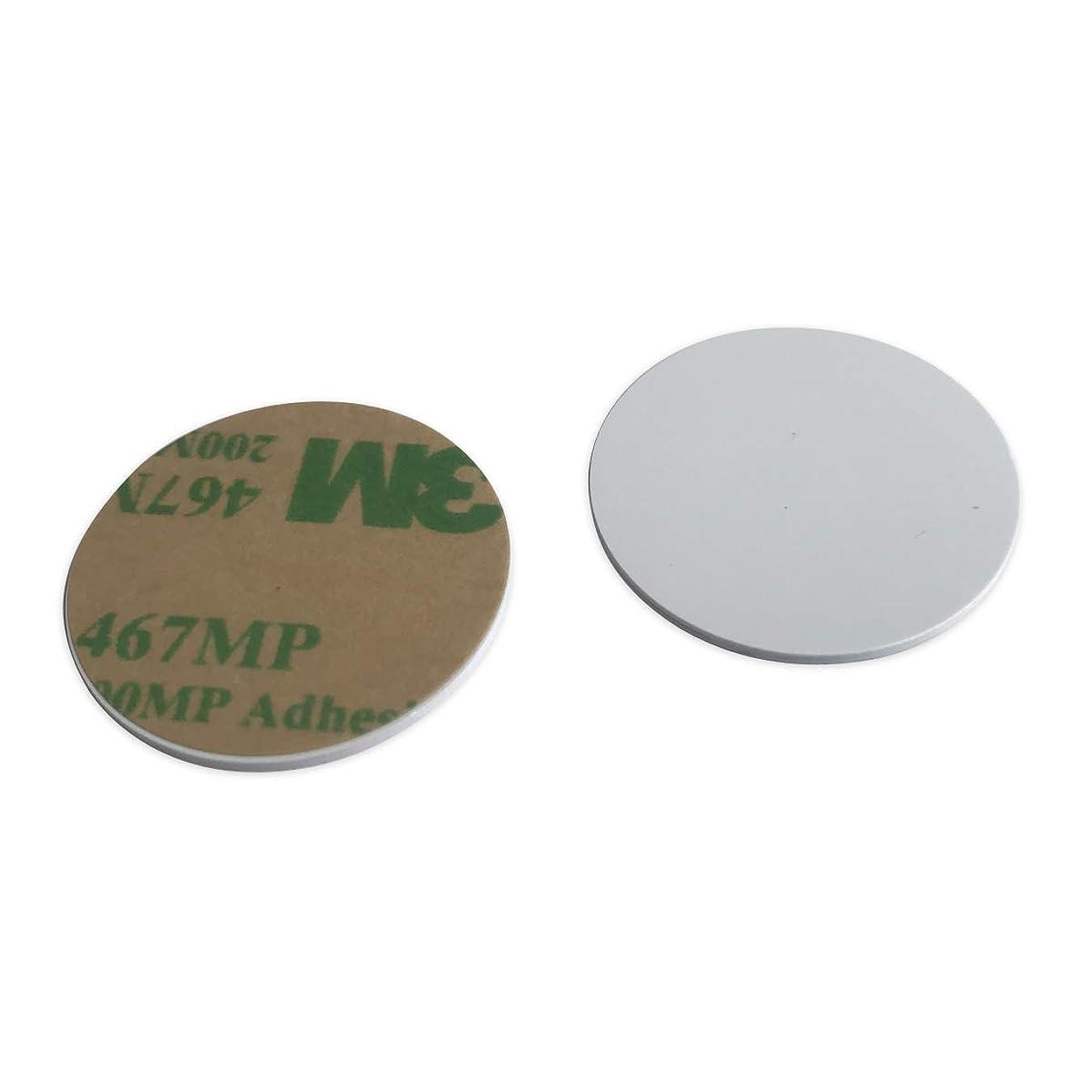 本能ペインギリック手配するMIFARE Classic 1K PVC コインタグ 3M 粘着性バック 1mm 厚い 25mm 直径 (100)