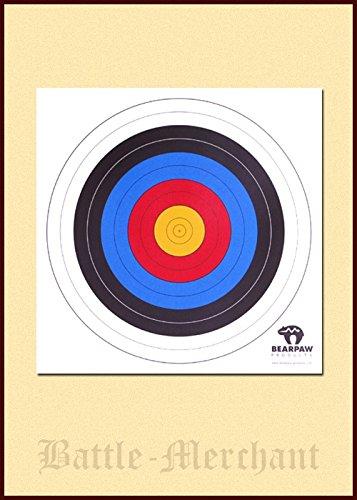 Lot de 10 cibles Battle-Merchant - 40 x 40 cm ou 60 x 60 cm - Pour tir à l'arc - Moyen-Âge - Viking (40 cm)