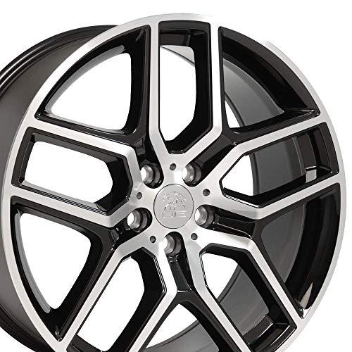OE Wheels LLC 20 inch Rim Fits Ford Explorer Wheel FR73 20x9 Black Mach'd Wheel...